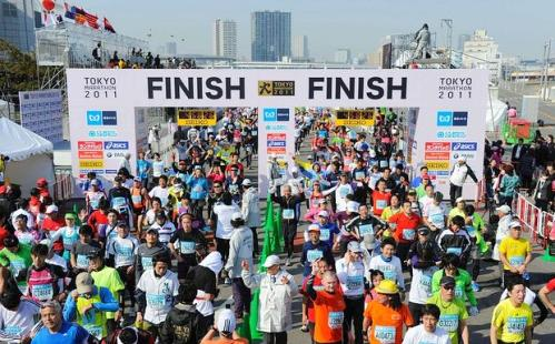 La maratona di Tokyo